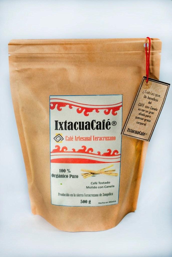 Café Artesanal Orgánico con canela en Bolsa de 500g